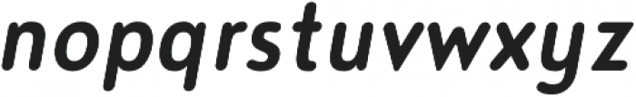 Noyh Slim R Medium Italic otf (500) Font LOWERCASE