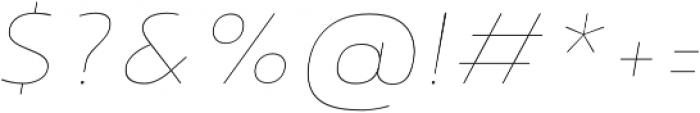 Noyh Thin Italic otf (100) Font OTHER CHARS