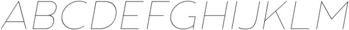 Noyh Thin Italic otf (100) Font UPPERCASE