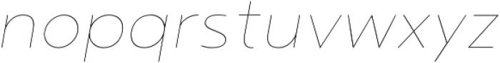 Noyh Thin Italic otf (100) Font LOWERCASE