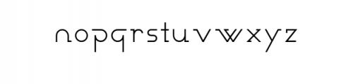 Novatny Font LOWERCASE