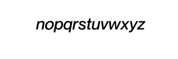 Noveltica Nova-MediumItalic.otf Font LOWERCASE