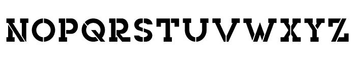 NORTHCLIFF Stencil Font UPPERCASE