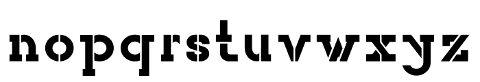 NORTHCLIFF Stencil Font LOWERCASE