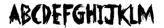 No Fear Font LOWERCASE