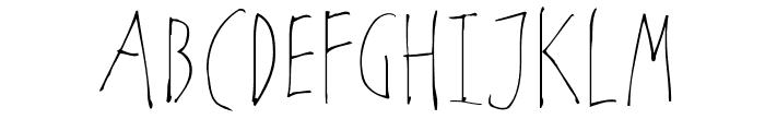 NoArtOnlyChaos-Light Font UPPERCASE