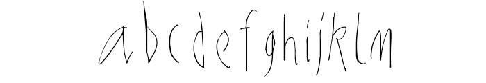 NoArtOnlyChaos-Light Font LOWERCASE