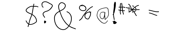 NoArtOnlyChaos Font OTHER CHARS