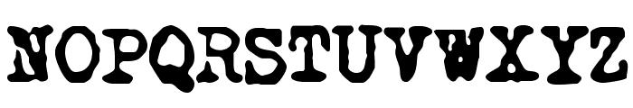 NoMore Typewriters Font UPPERCASE
