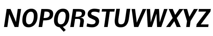 Nobile Bold Italic Font UPPERCASE