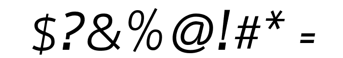 Nobile Italic Font OTHER CHARS