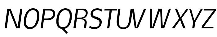 Nobile Italic Font UPPERCASE