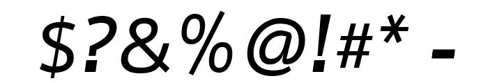 Nobile Medium Italic Font OTHER CHARS