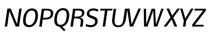 Nobile Medium Italic Font UPPERCASE