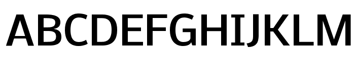 Nobile Medium Font UPPERCASE
