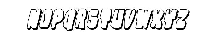 Nobody's Home 3D Italic Font UPPERCASE