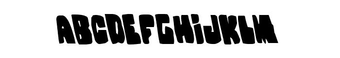 Nobody's Home Leftalic Font UPPERCASE