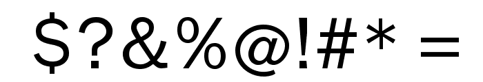 Nonserif-Regular Font OTHER CHARS
