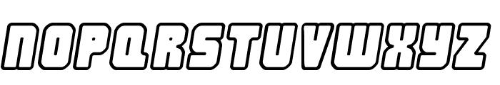 Nonstop italic Font UPPERCASE