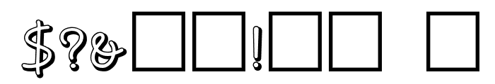 NoodleShaded Font OTHER CHARS