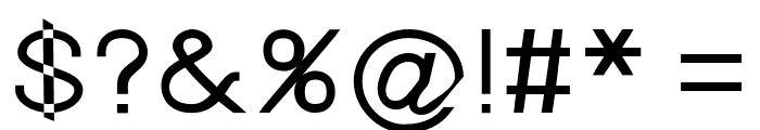 Nordica Advanced Regular Extended Font OTHER CHARS