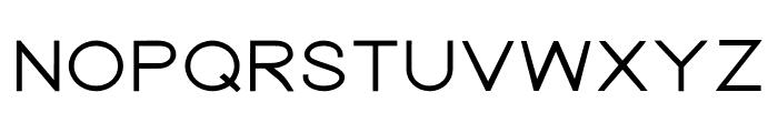 Nordica Advanced Regular Extended Font UPPERCASE
