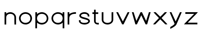 Nordica Advanced Regular Extended Font LOWERCASE