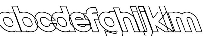 Nordica Classic Black Extended Opposite Oblique Outline Font LOWERCASE