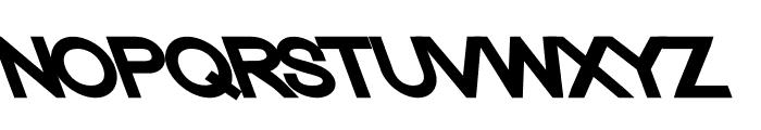 Nordica Classic Black Extended Opposite Oblique Font UPPERCASE