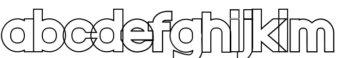 Nordica Classic Black Extended Outline Font LOWERCASE