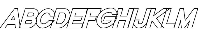 Nordica Classic Black Oblique Outline Font UPPERCASE