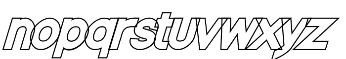 Nordica Classic Black Oblique Outline Font LOWERCASE