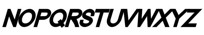 Nordica Classic Black Oblique Font UPPERCASE