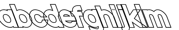 Nordica Classic Black Opposite Oblique Outline Font LOWERCASE