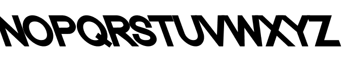 Nordica Classic Black Opposite Oblique Font UPPERCASE