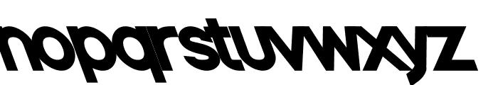 Nordica Classic Black Opposite Oblique Font LOWERCASE