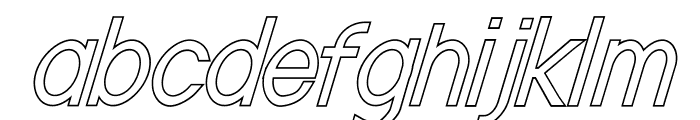 Nordica Classic Light Condensed Oblique Outline Font LOWERCASE