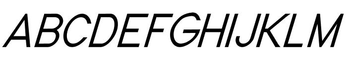 Nordica Classic Light Condensed Oblique Font UPPERCASE