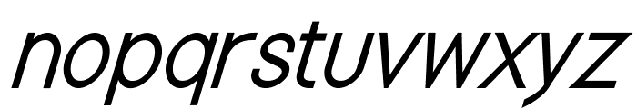 Nordica Classic Light Condensed Oblique Font LOWERCASE
