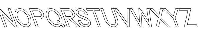 Nordica Classic Light Condensed Opposite Oblique Outline Font UPPERCASE