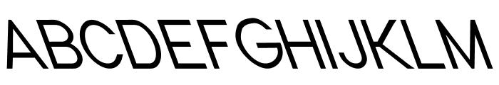 Nordica Classic Light Condensed Opposite Oblique Font UPPERCASE
