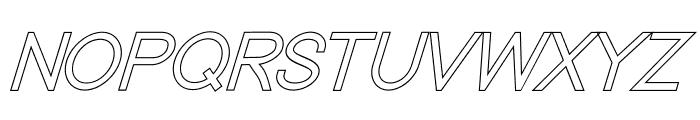 Nordica Classic Light Oblique Outline Font UPPERCASE
