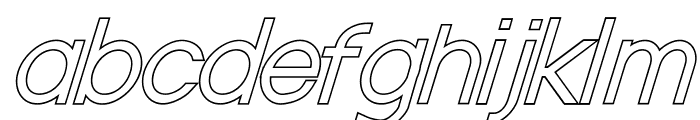 Nordica Classic Light Oblique Outline Font LOWERCASE