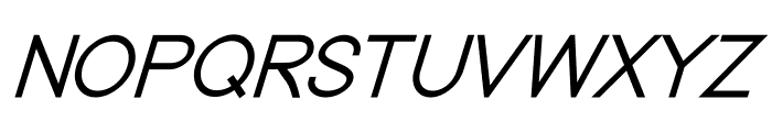 Nordica Classic Light Oblique Font UPPERCASE