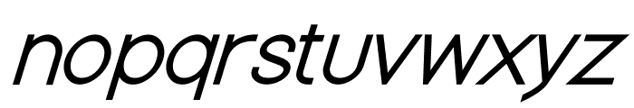 Nordica Classic Light Oblique Font LOWERCASE