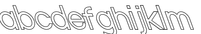 Nordica Classic Light Opposite Oblique Outline Font LOWERCASE
