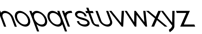 Nordica Classic Light Opposite Oblique Font LOWERCASE
