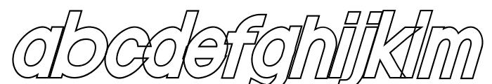 Nordica Classic Regular Condensed Oblique Font LOWERCASE