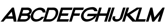 Nordica Classic Regular Extended Oblique Font UPPERCASE