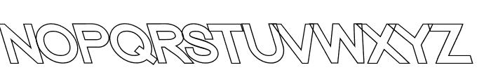 Nordica Classic Regular Extended Opposite Oblique Outline Font UPPERCASE